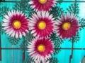 Coroana tip cruce cu gerbera rosie