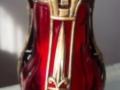 Candela rosu din sticla 2 cu model