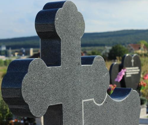 Cruce mare ortodox granit gri inchis