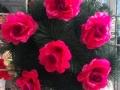 Coroana japoneza cu trandafir lilla