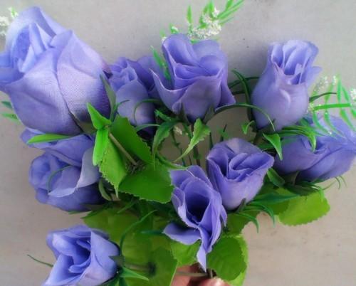 Trandafir albastru buchet mare