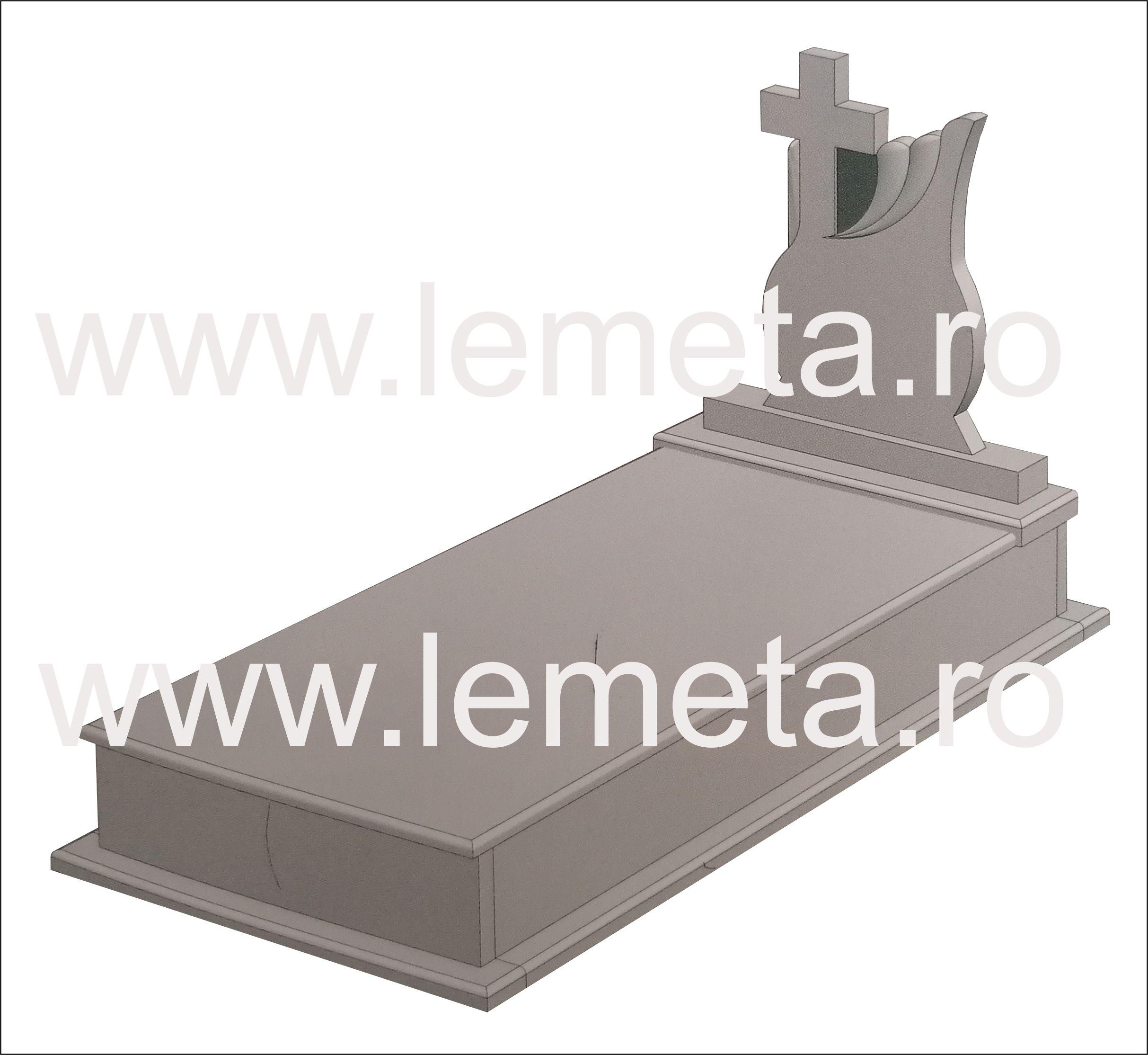 Cadru funerar cu capac din granit