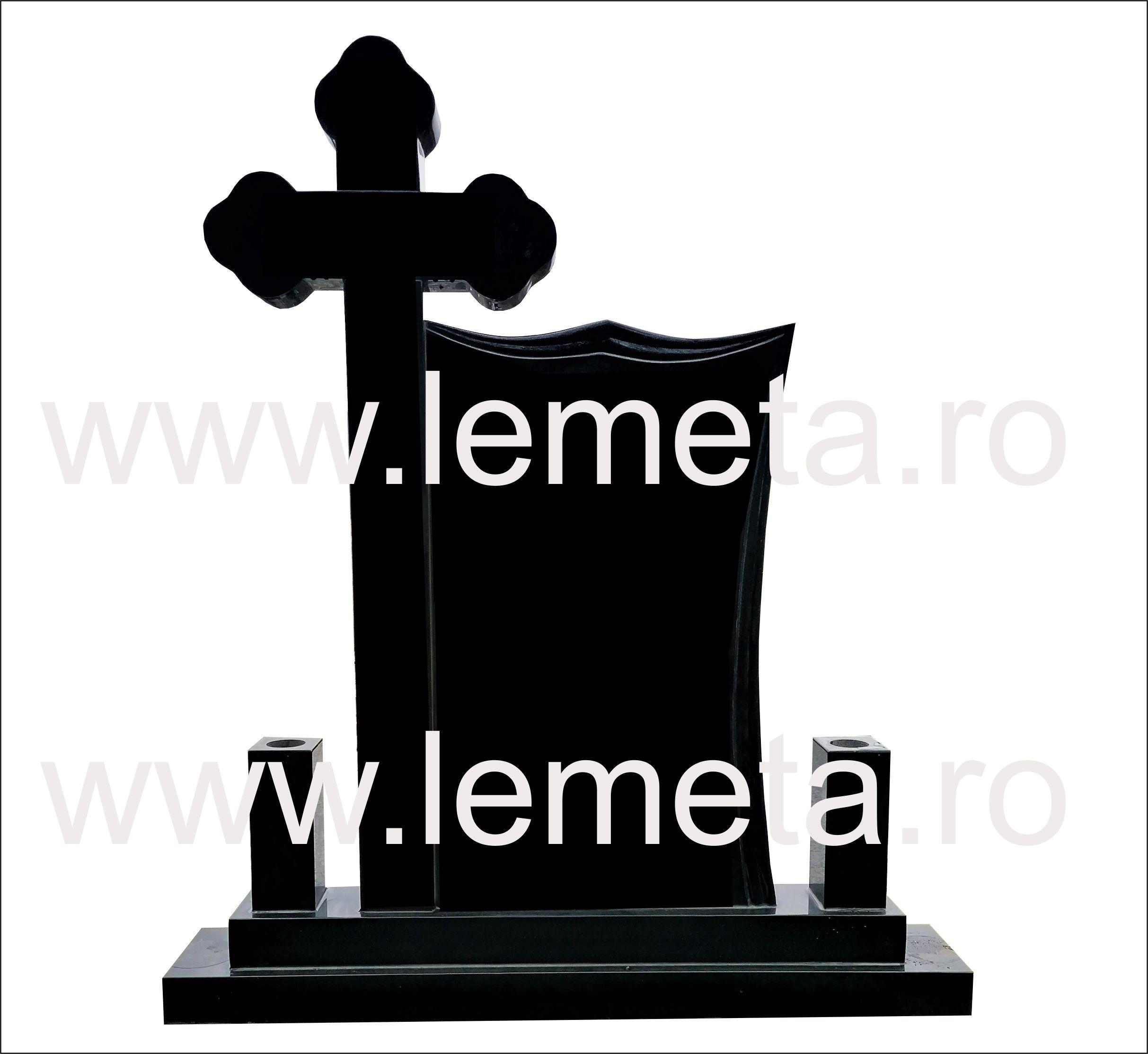 Monument-Granit-Negru-model-special-si-cruce-ortodox