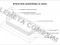 Structura rama cadru cu capac